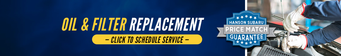 Subaru Oil and Filter Change service - click here to schedule your next service visit at Hanson Subaru in Olympia, WA