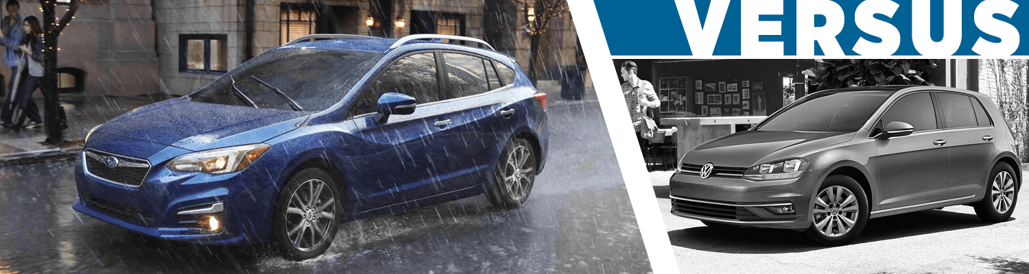 2018 Subaru Impreza 5-Door vs 2018 Volkswagen Golf Comparison Information in Olympia, WA