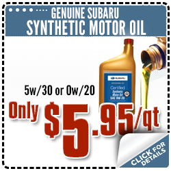 Subaru Synthetic Motor Oil Parts Special Serving Lacey, WA
