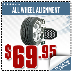 Click to view our all-wheel alignment service special in Olympia, WA
