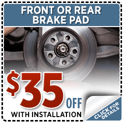 Front or Rear Brade Pad Service Special in Olympia, WA