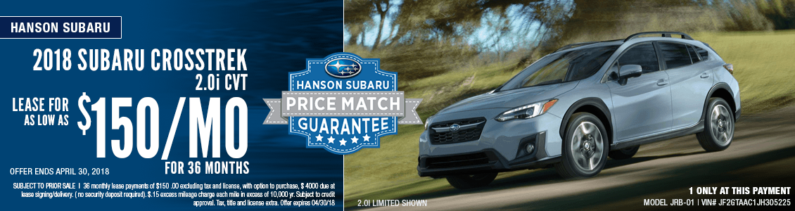 2018 Subaru WRX 2.5i 6MT Low Payment Lease Special in Olympia, WA