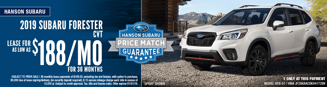 2019 Subaru Forester CVT Low Payment Lease Special in Olympia, WA