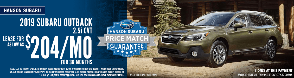2019 Subaru Outback 2.5i CVT Low Payment Lease Special in Olympia, WA