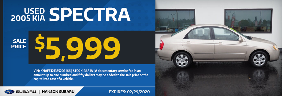 Used 2005 KIA Spectra Sale Special in Olympia, WA