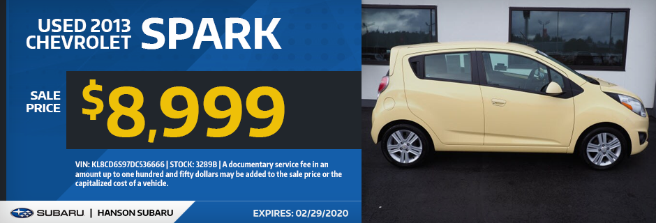 Used 2013 Chevrolet Spark Sale Special in Olympia, WA