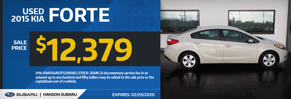 Used 2015 KIA Forte Sale Special in Olympia, WA