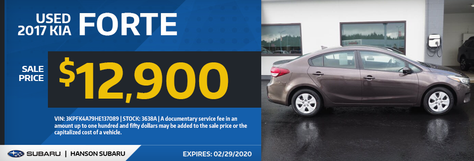 Used 2017 KIA Forte Sale Special in Olympia, WA