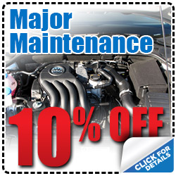 Hiley Volkswagen Major Maintenance Service Special Discount Coupon serving Dallas, Texas