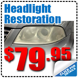 Hiley Volkswagen Headlight Restoration Service Special Discount Coupon serving Dallas, Texas