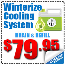 Hiley Volkswagen Winterize Cooling System Special Discount serving Dallas, Texas