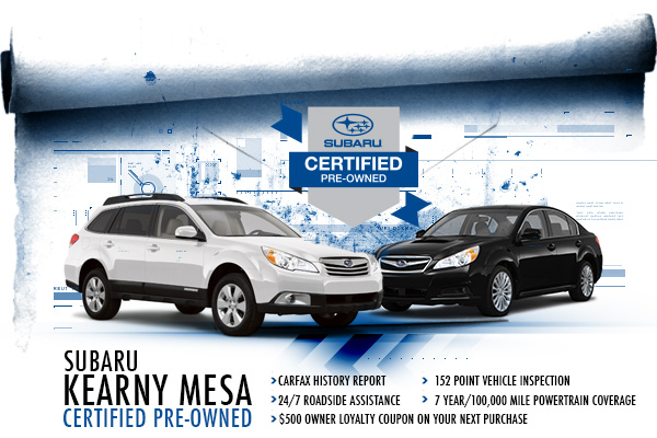 Subaru Certified Pre-Owned Program in San Diego, CA