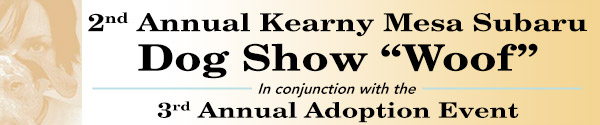 Kearny Mesa Subaru 2nd Annual Dog Show and 3rd Annual Adoption Event