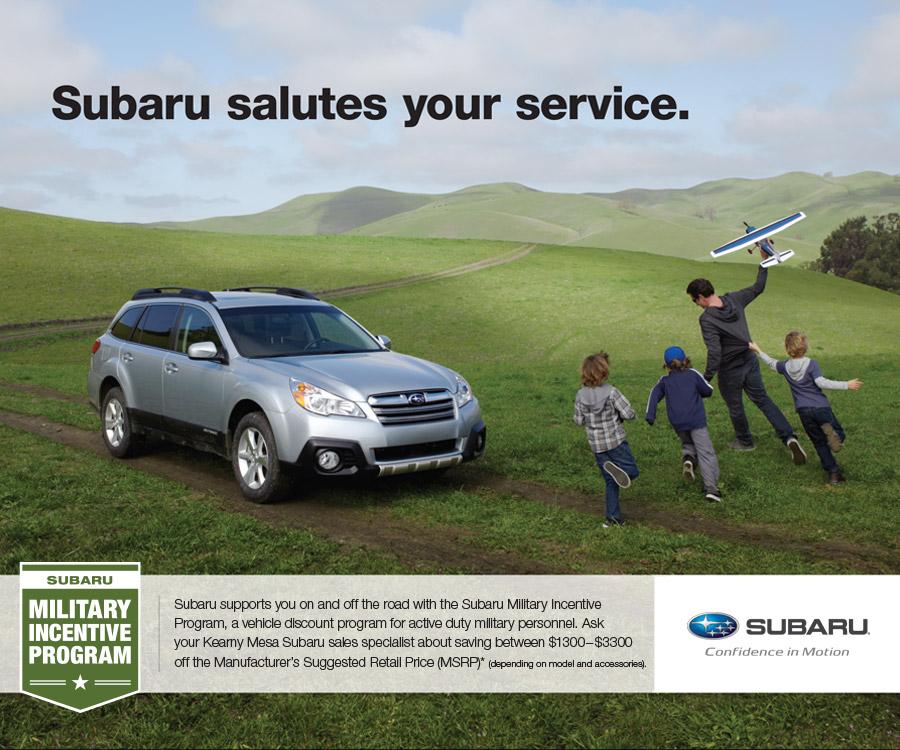 Subaru Military Incentive Program Kearny Mesa San Diego Ca New
