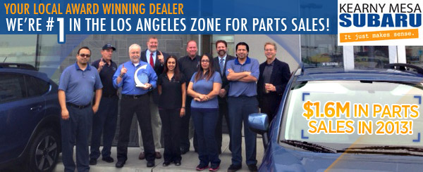 #1 Subaru Parts Sales in the Los Angeles Zone
