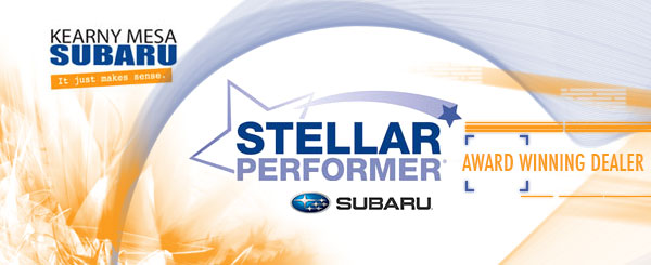 Kearny Mesa Subaru Stellar Care Award, Outstanding Customer Care, Service Care & Comfort and Convenience serving San Diego, California