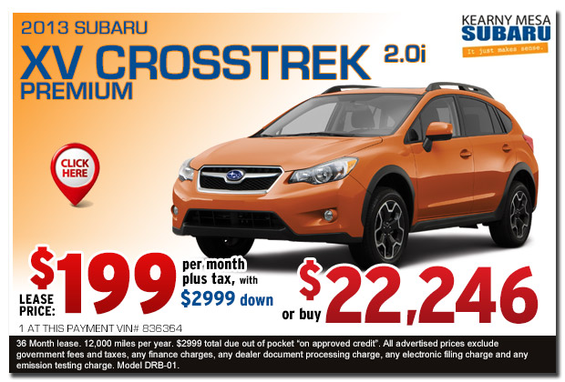 New 2013 Subaru XV Crosstrek Premium Sales Special serving San Diego, California