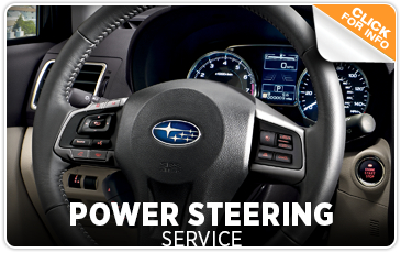 Click to learn more about Subaru power steering system service performed by factory trained technicians at Kearny Mesa Subaru in San Diego, CA