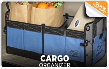 Click to view our Subaru cargo organizer parts information in San Diego, CA