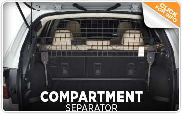 Click to view our Subaru Dog Guard / Compartment Separator accessories information in San Diego, CA