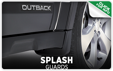 Click to learn more about genuine Subaru splash guards available in San Diego, CA