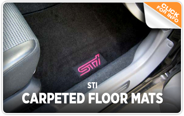 Click to research our STi carpeted floor mats at Kearny Mesa Subaru in San Diego, CA