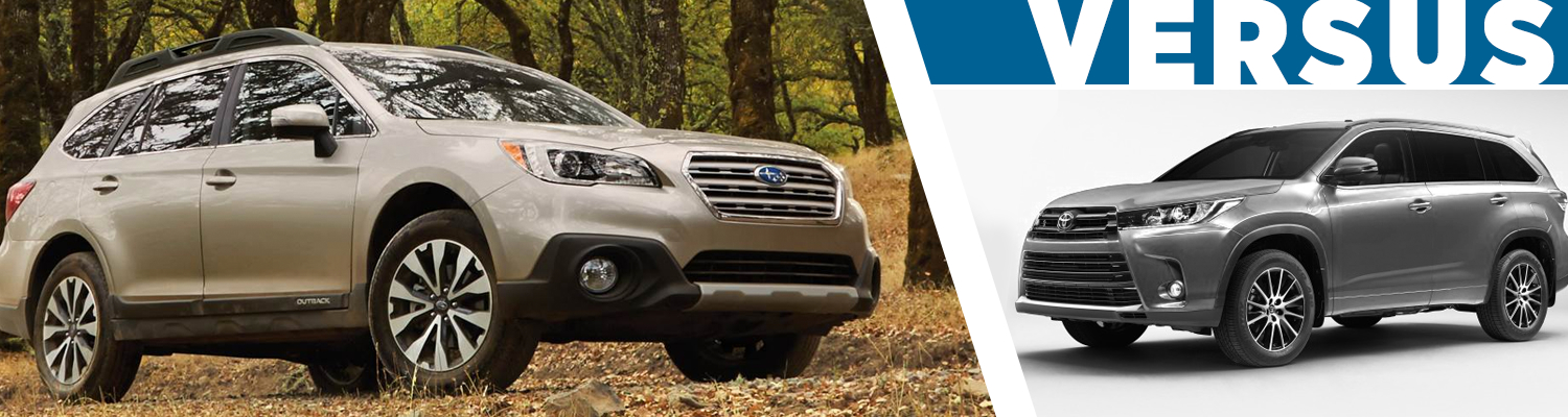 Compare 2017 Subaru Outback VS Toyota Highlander Models