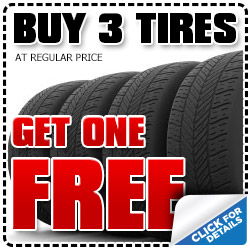 Subaru Buy 3 Get 1 Free Tire Special serving San Diego, California & Kearny Mesa