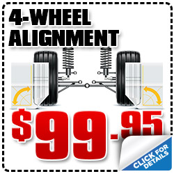 San Diego Subaru 4-Wheel Alignment Service Special serving San Diego & Kearny Mesa, California