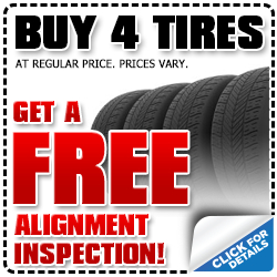 Buy 4 new tires for your Subaru and we'll align your Subaru wheels at no charge at Kearny Mesa Subaru in San Diego, CA - Click for more details!