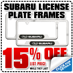 Click to View Our Subaru License Plate Frame Parts  Special in San Diego, CA