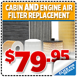 Click to view our Subaru Cabin Air Filter AND Engine Air Filter Replacement service special in San Diego, CA