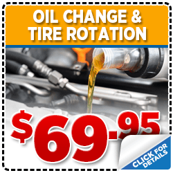 Click to view our Subaru Tire Rotation & Oil Change service special in San Diego, CA