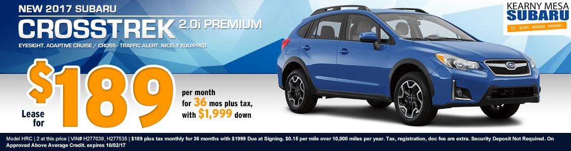 San Diego New 2017 Subaru Crosstrek 2.0i Premium Lease Special at Kearny Mesa Subaru