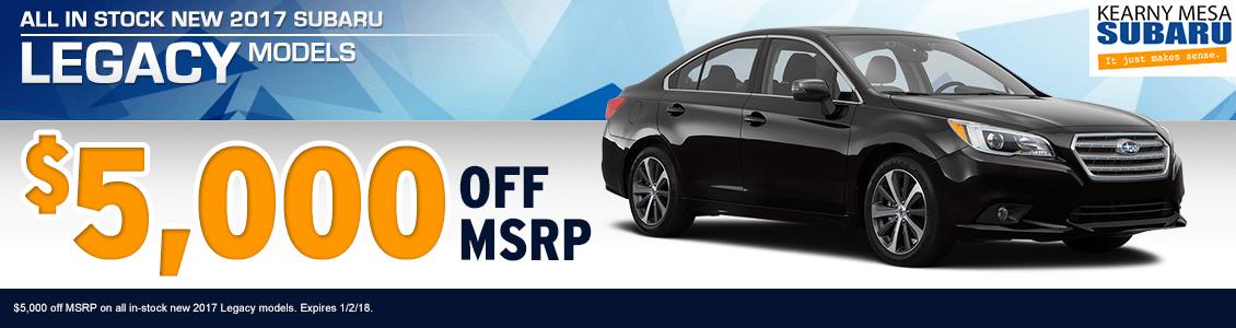 New Vehicle Specials Kearny Mesa Subaru