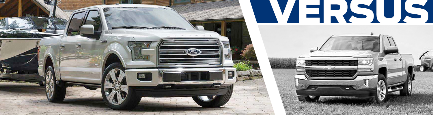 Compare the 2016 Ford F-150 & 2016 Chevrolet Silverado models at Lakewood Ford serving Tacoma, WA