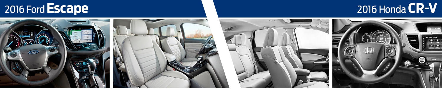 2016 Ford Escape VS 2016 Honda CR-V Model Interior Comparison