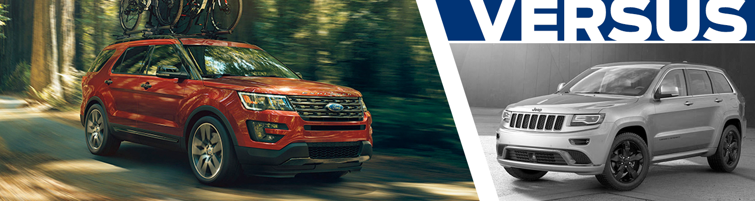 Compare the new 2016 Ford Explorer vs Jeep Grand Cherokee in Lakewood, WA
