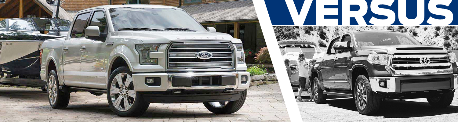 Compare the new 2016 Ford F-150 vs 2016 Toyota Tundra models in Lakewood, WA