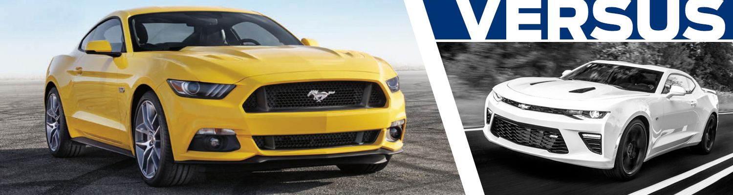 2016 Ford Mustang vs Chevrolet Camaro Model Feature Comparison