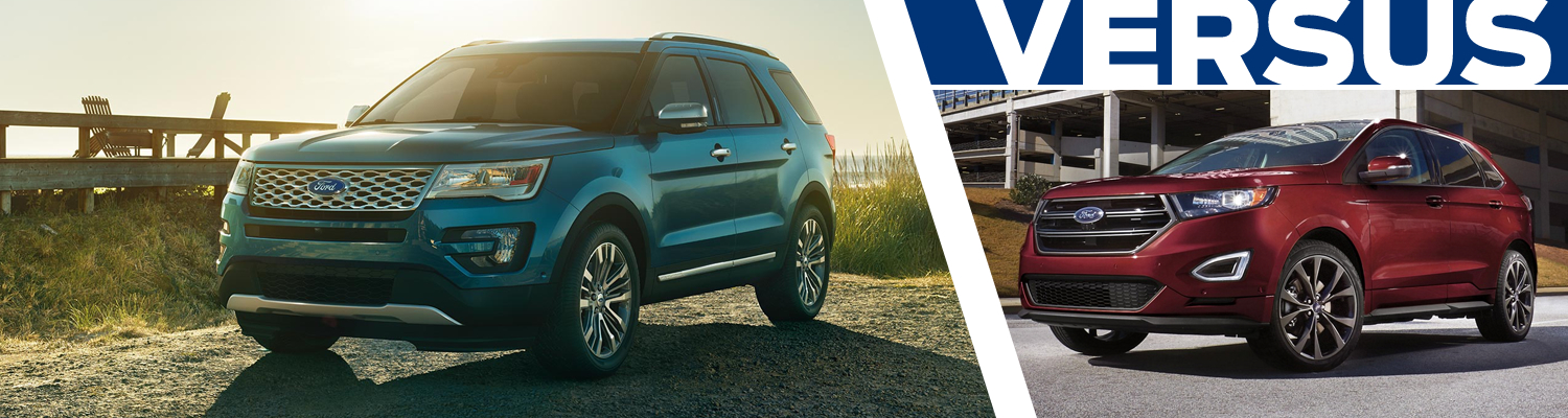 Compare the 2017 Ford Explorer & 2017 Ford Edge models in Lakewood, WA