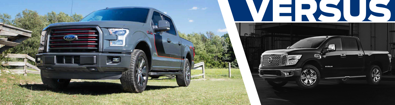 Compare the 2017 Ford F-150 and 2017 Nissan Titan models in Lakewood, WA