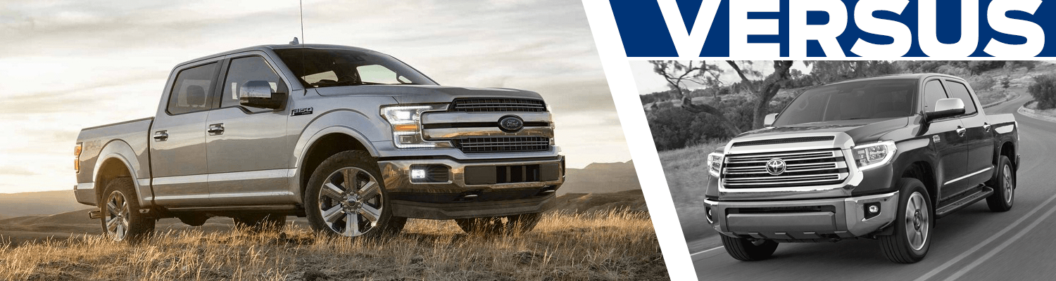 Compare the 2018 Ford F-150 and 2018 Toyota Tundra models in Lakewood, WA