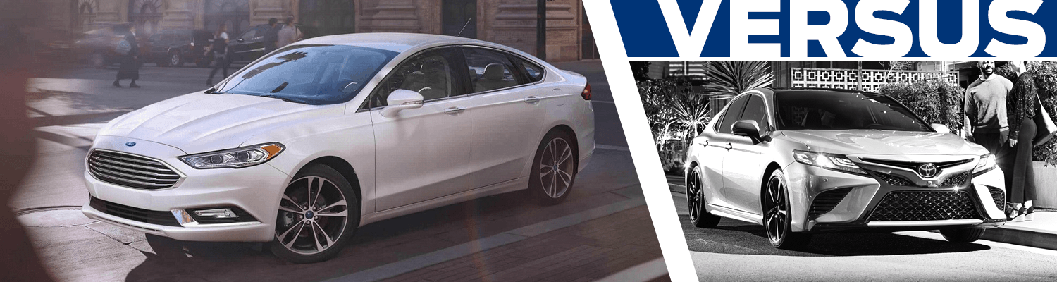 Compare the 2018 Ford Fusion and 2018 Toyota Camry models in Lakewood, WA