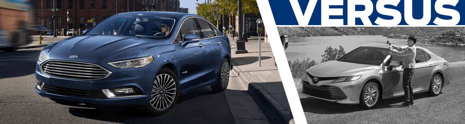 Compare the 2018 Ford Fusion Hybrid and 2018 Toyota Camry Hybrid models in Lakewood, WA