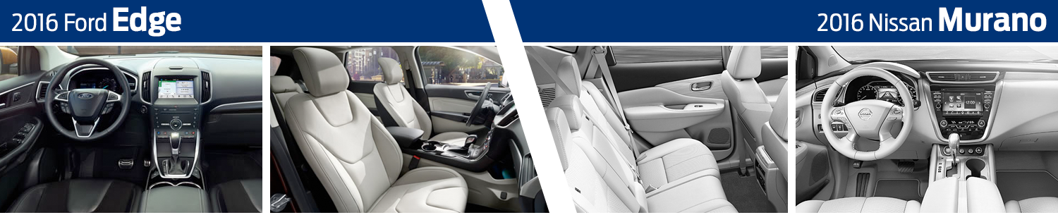 2016 Ford Edge vs 2016 Nissan Murano Model Interior Comparison