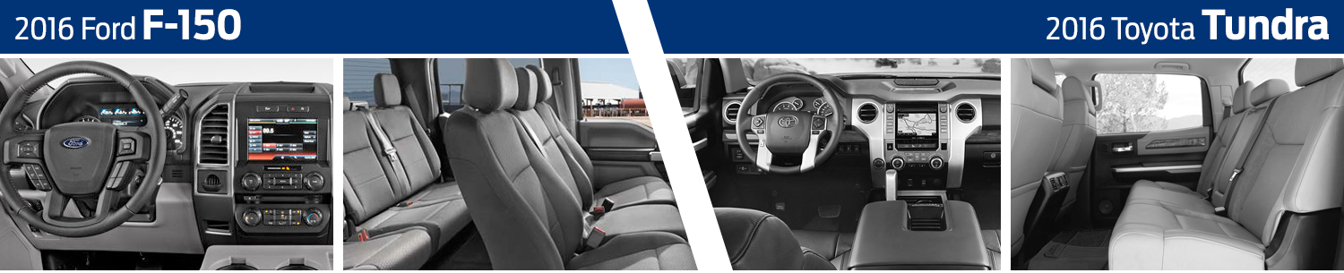 2016 Ford F-150 vs Toyota Tundra Model Interior Comparison
