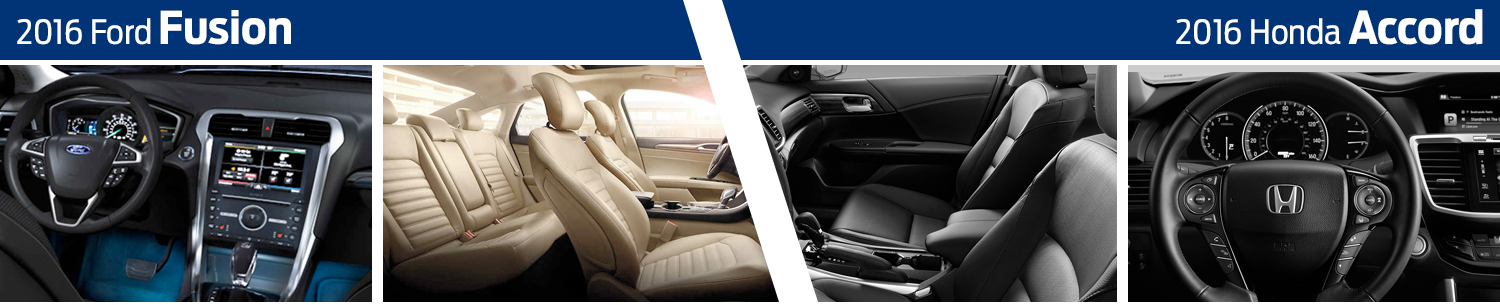 2016 Ford Fusion vs Honda Accord Model Interior Styling Comparison
