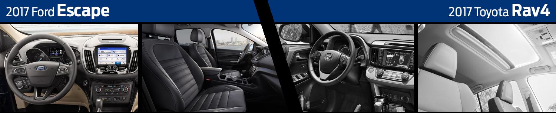 2017 Ford Escape vs Toyota RAV4 Interior Comparison
