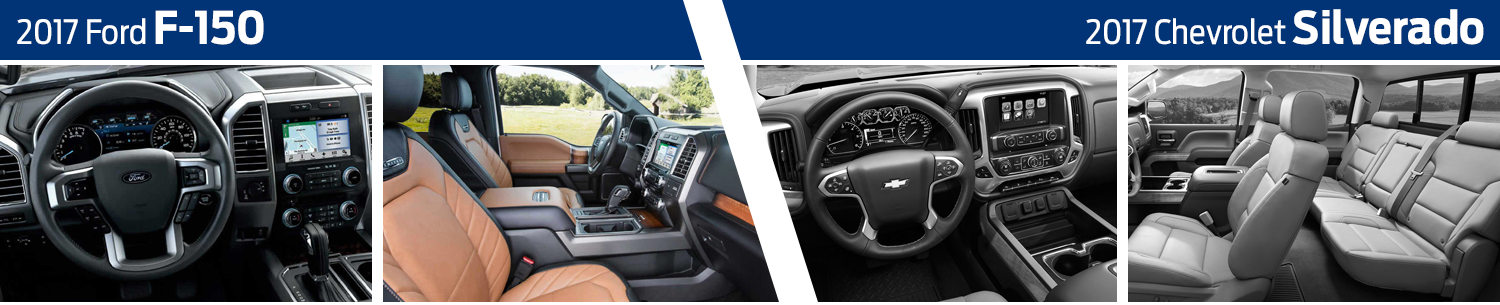 Compare 2017 Ford F-150 Interior vs Jeep Grand Cherokee